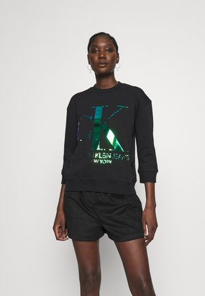 IRIDESCENT MONOGRAM - Sweatshirt - black