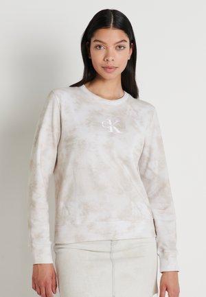 TIE DYE CREW NECK - Sweatshirt - plaza taupe