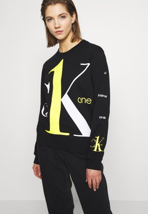 CK ONE BIG LOGO RELAXED - Sweater - black beauty