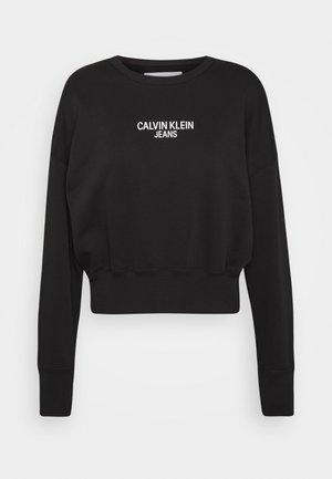 INSTITUTIONAL BACK LOGO - Sweatshirt - black