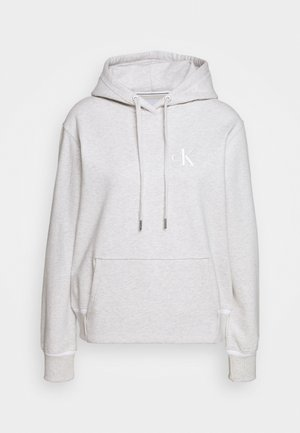 EMBROIDERY TIPPING HOODIE - Felpa con cappuccio - white/grey heather