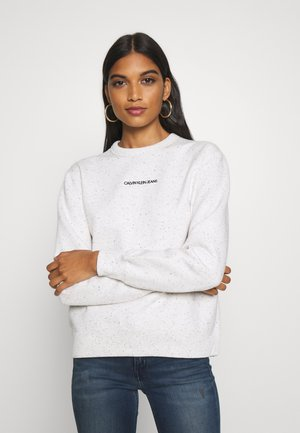 RELAXED CREW NECK - Sweater - white heather