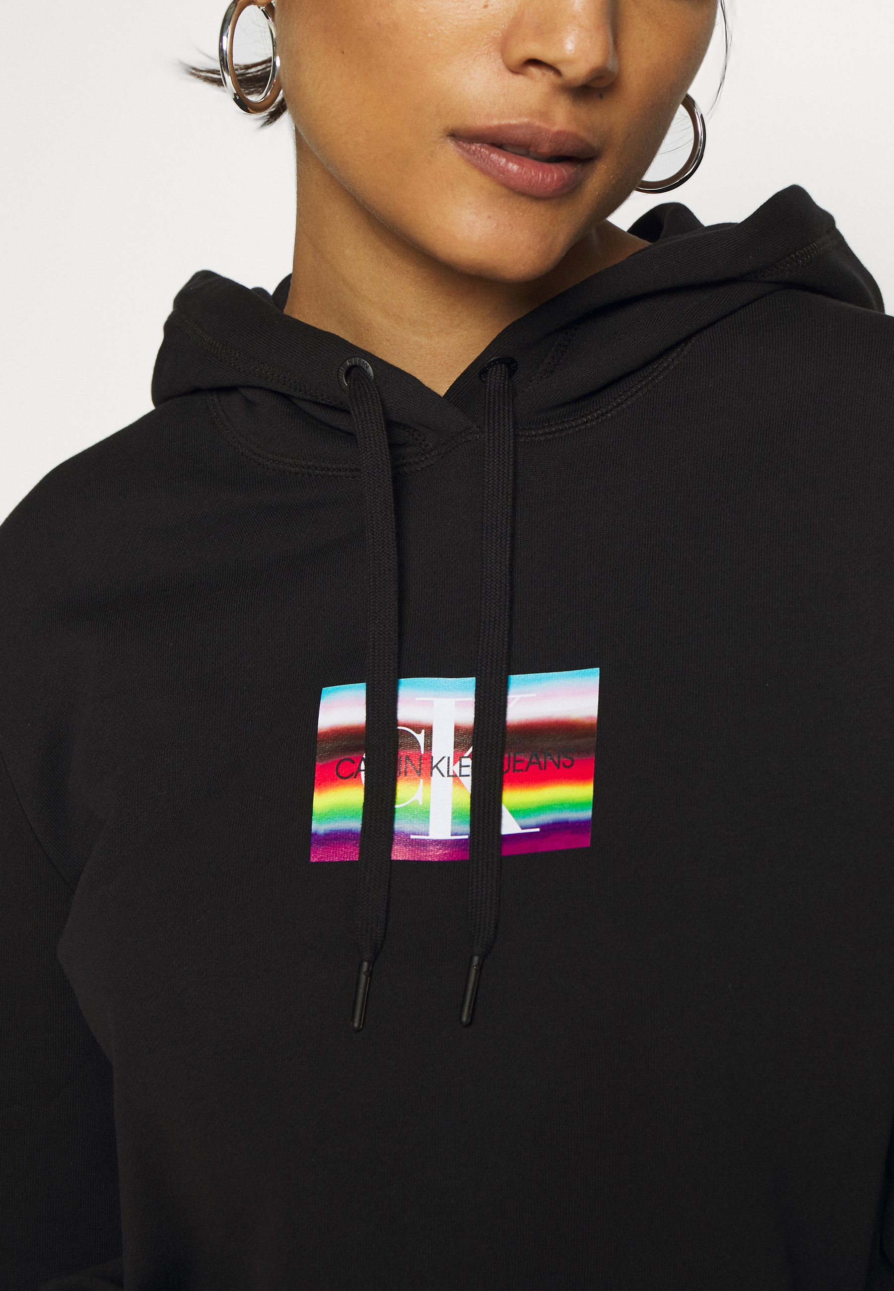 SMALL FLAG BOXY HOODIE Sweat à capuche black