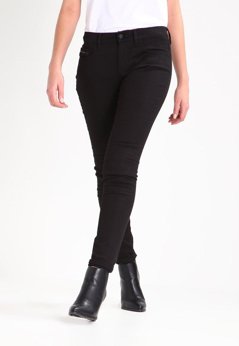 Calvin Klein Jeans - MID RISE SKINNY - Jeans Skinny Fit - black