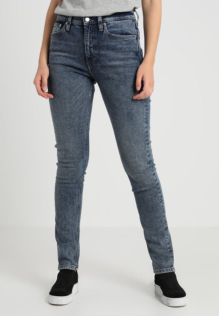 Calvin Klein Jeans - CKJ 020  HIGH RISE SKINNY - Jeans Slim Fit - aptos blue