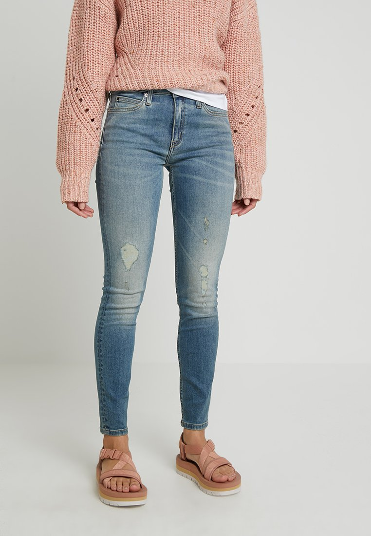 Calvin Klein Jeans - MID RISE SKINNY - Jeans Skinny Fit - mika blue
