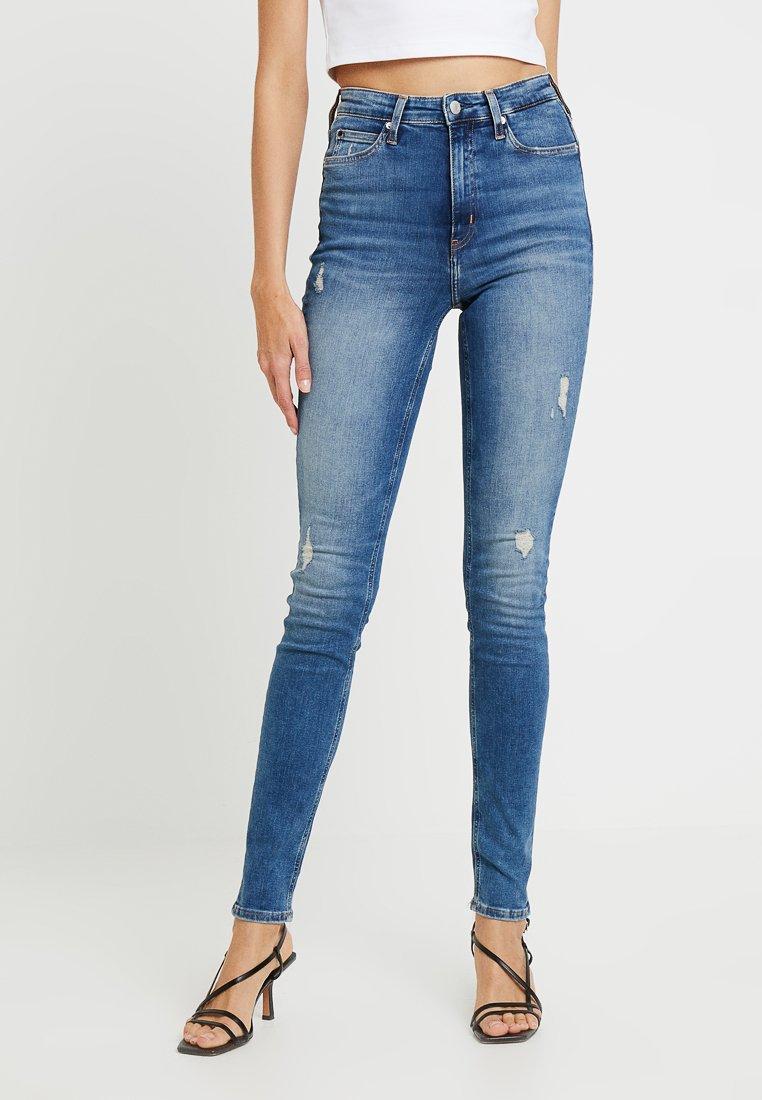 Calvin Klein Jeans - HIGH RISE - Skinny džíny - skagit
