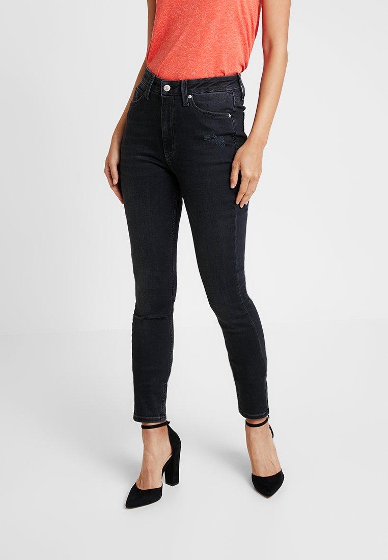 Calvin Klein Jeans - HIGH RISE - Jeans Skinny Fit - forillon black