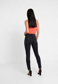 Calvin Klein Jeans - HIGH RISE - Skinny džíny - forillon black - 2