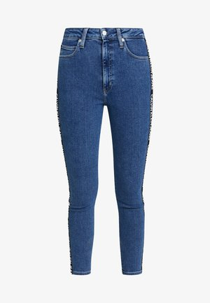 010 HIGH RISE SKINNY ANKLE - Skinny džíny - dark blue denim