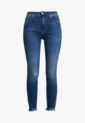 010 HIGH RISE SKINNY ANKLE - Jeans Skinny Fit - aces high blue