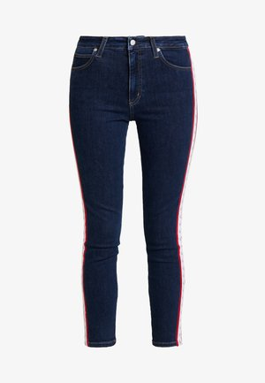 010 HIGH RISE SKINNY ANKLE - Jeans Skinny Fit - april blue/white/red