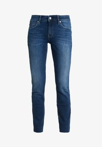 Calvin Klein Jeans - MID RISE ANKLE - Jeans Skinny Fit - wesley blue raw hem - 5