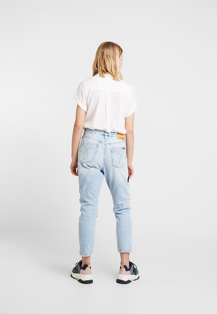 Calvin Slim Cold Quilt Rise Jeans CropBaggy Klein High TFc13lKJ