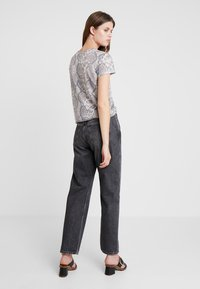 Calvin Klein Jeans - HIGH RISE STRAIGHT ANKLE - Straight leg jeans - dolores black - 2