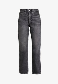 Calvin Klein Jeans - HIGH RISE STRAIGHT ANKLE - Straight leg jeans - dolores black - 4