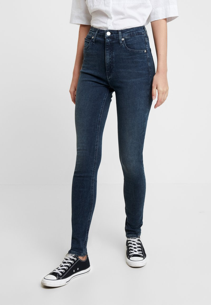 Calvin Klein Jeans - HIGH RISE SKINNY - Jeans Skinny Fit - shaded blue black smart