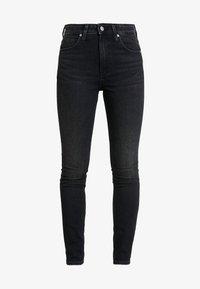 Calvin Klein Jeans - HIGH RISE SKINNY - Skinny džíny - iron horse black - 3