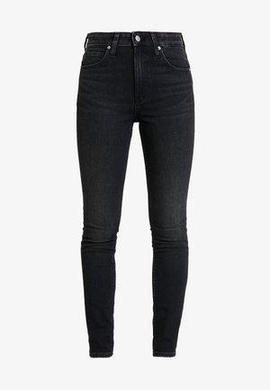 HIGH RISE SKINNY - Jeans Skinny - iron horse black