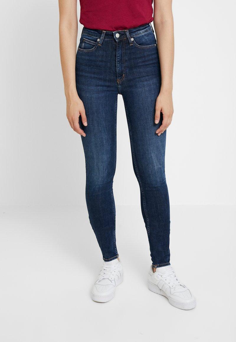 Calvin Klein Jeans - HIGH RISE - Jeans Skinny Fit - amsterdam blue dark