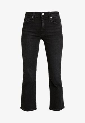 MID RISE CROP FLARE - Flared Jeans - ca100 black