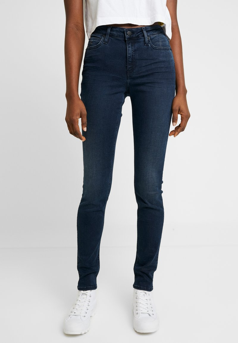 Calvin Klein Jeans - SUPER SKINNY - Jeans Skinny - blue black