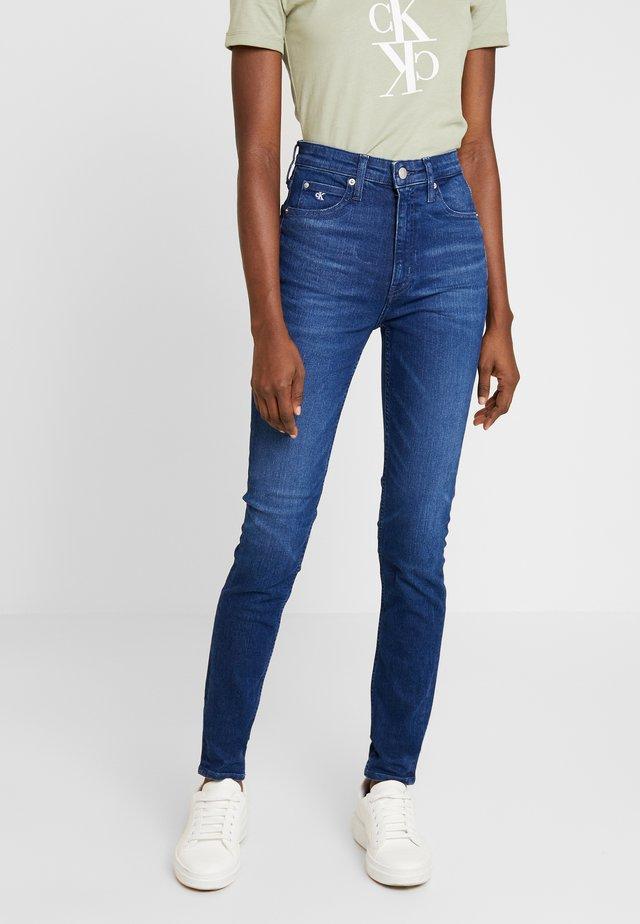 HIGH RISE SKINNY - Slim fit jeans - ca060 mid blue
