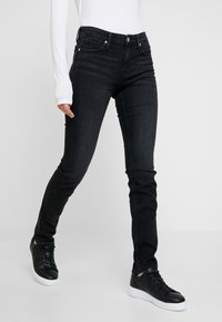 Calvin Klein Jeans - MID RISE SLIM - Jean slim - black - 0