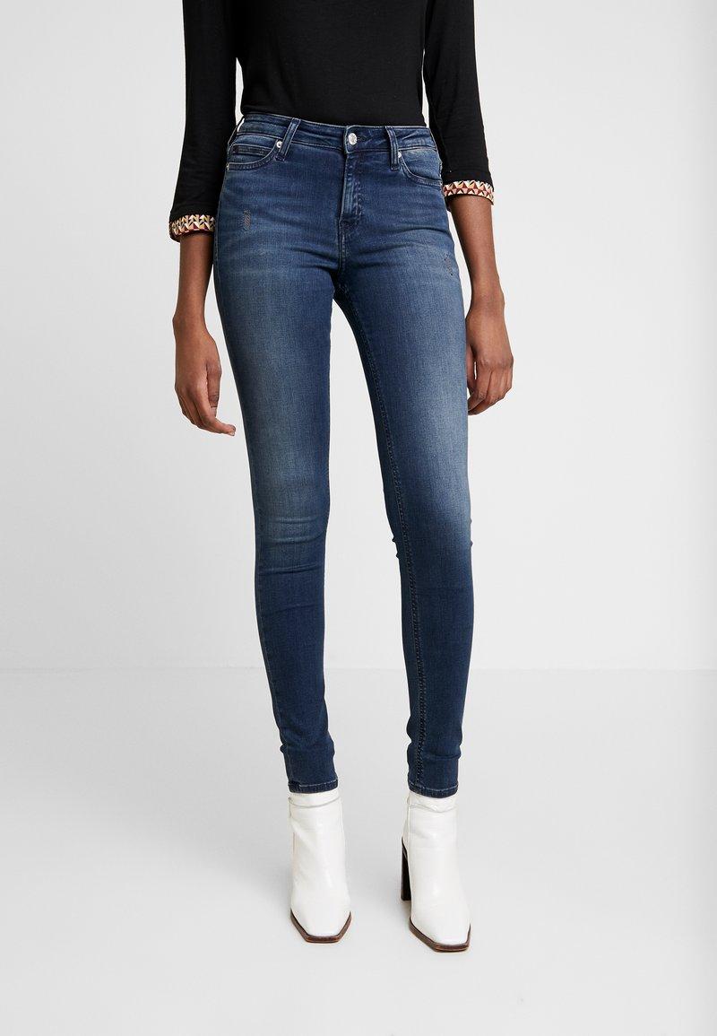Calvin Klein Jeans - SUPER - Jeans Skinny Fit - blue black