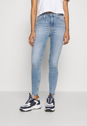 HIGH RISE SUPER SKINNY ANKLE - Jeansy Skinny Fit - light blue