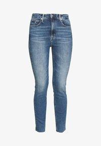 Calvin Klein Jeans - HIGH RISE SKINNY ANKLE - Skinny džíny - bright blue front - 4