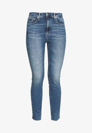 HIGH RISE SKINNY ANKLE - Skinny džíny - bright blue front