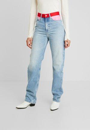 HIGH RISE STRAIGHT WOMENS - Straight leg jeans - light-blue denim