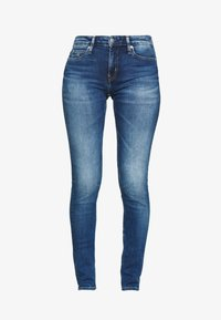 Calvin Klein Jeans - MID RISE - Jeans Skinny Fit - bright blue - 4