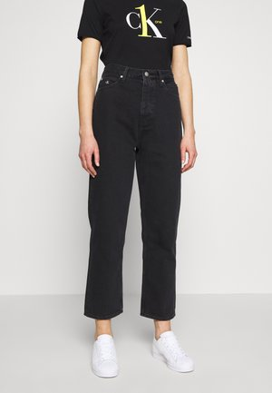 CK ONE DAD ANKLE - Relaxed fit jeans - black stone