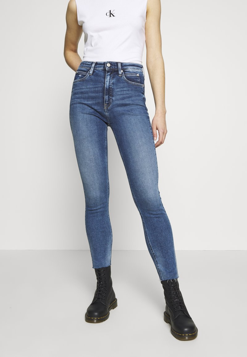 Calvin Klein Jeans - CK ONE HIGH RISE - Jeans Skinny - mid blue