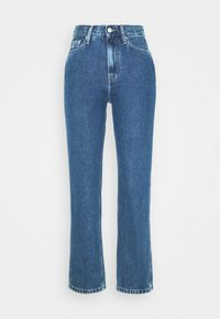 Calvin Klein Jeans - HIGH RISE STRAIGHT ANKLE - Jeansy Straight Leg - ab076 icn light blue - 3