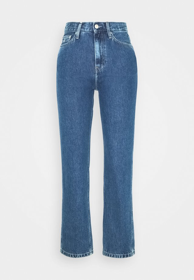030 HIGH RISE STRAIGHT ANKLE - Jeans Tapered Fit - ab076 icn light blue