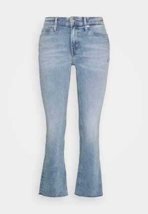 RISE CROP FLARE - Flared Jeans - light blue