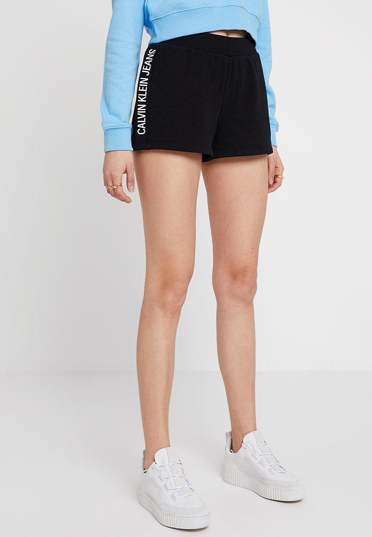 Calvin Klein Jeans - TRACK LOGO  - Joggebukse - ck black
