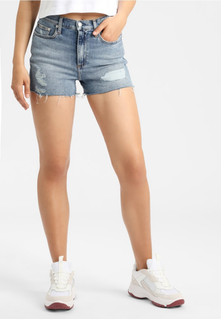 Calvin Klein Jeans - PRIDE - Jeans Shorts - blue