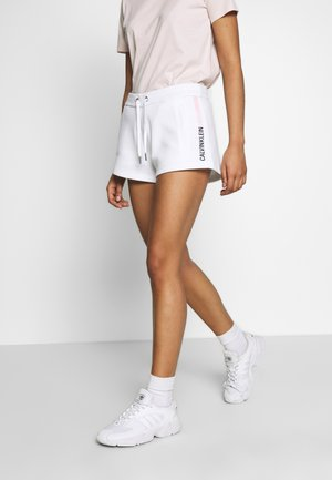 STRIPE LOGO JOGGING - Shorts - bright white