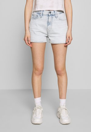 HIGH RISE - Jeans Shorts - bleached blue