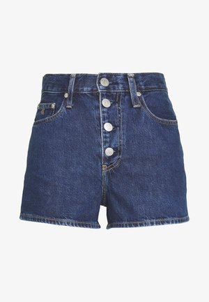 Denim shorts - dark blue stone shank