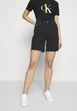 CK ONE MOM - Jeansshorts - black stone
