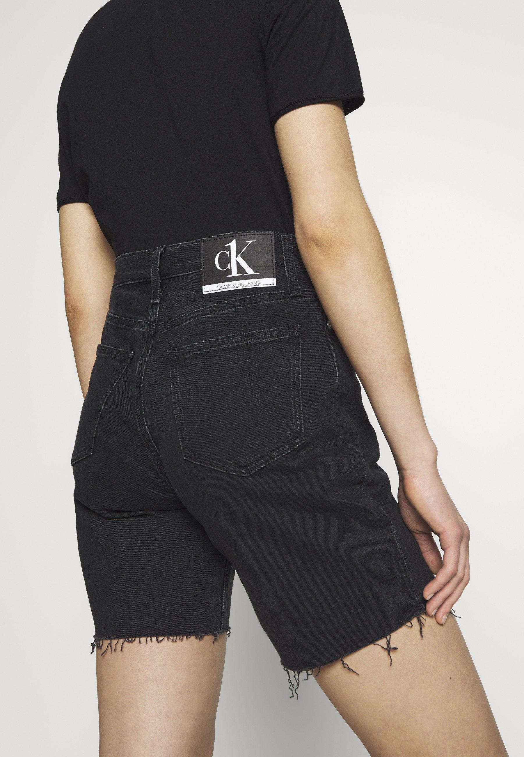 Calvin Klein Jeans CK ONE MOM - Szorty jeansowe - black stone