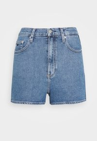 Calvin Klein Jeans - HIGH RISE  - Farkkushortsit - light blue - 3