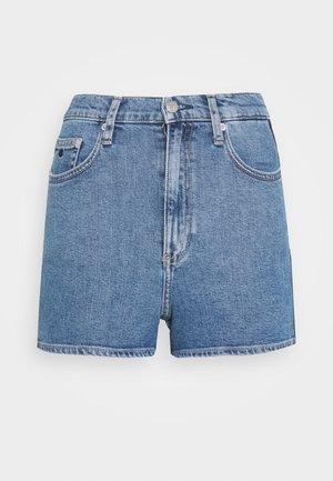 HIGH RISE  - Jeans Shorts - light blue