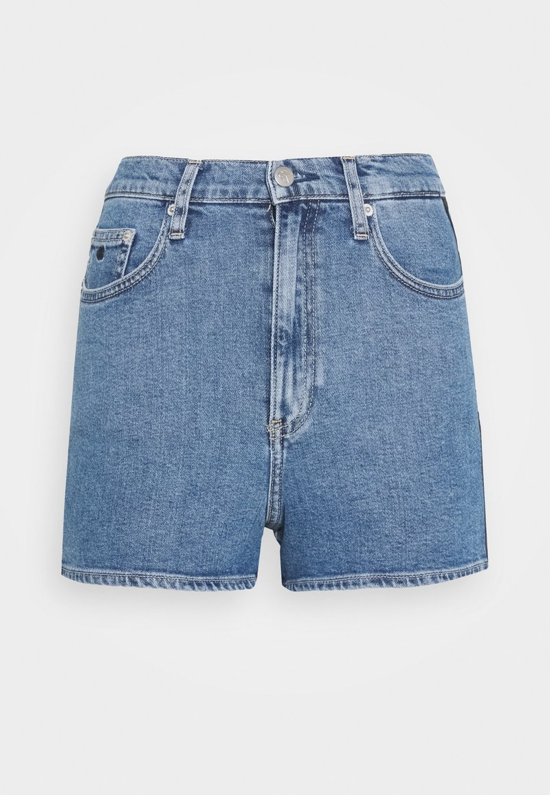 Calvin Klein Jeans - HIGH RISE  - Shorts di jeans - light blue