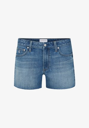 Denim shorts - da037 light blue cut hem